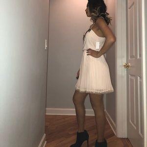 Victoria's Secret Dresses - Embellished pleated lace dress